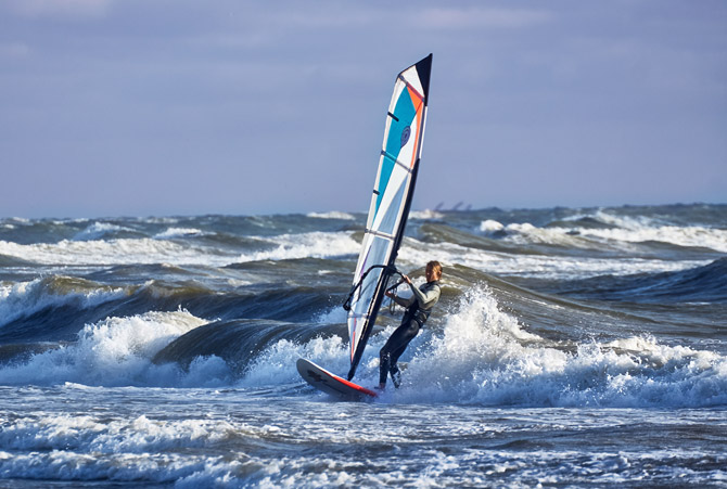 windsurfen in Hvide Sande