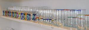 Glashuset Glasbläserei in Lønstrup - Gläser