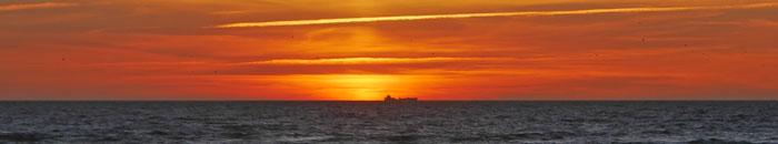 Ein atemberaubender Sonnenuntergang