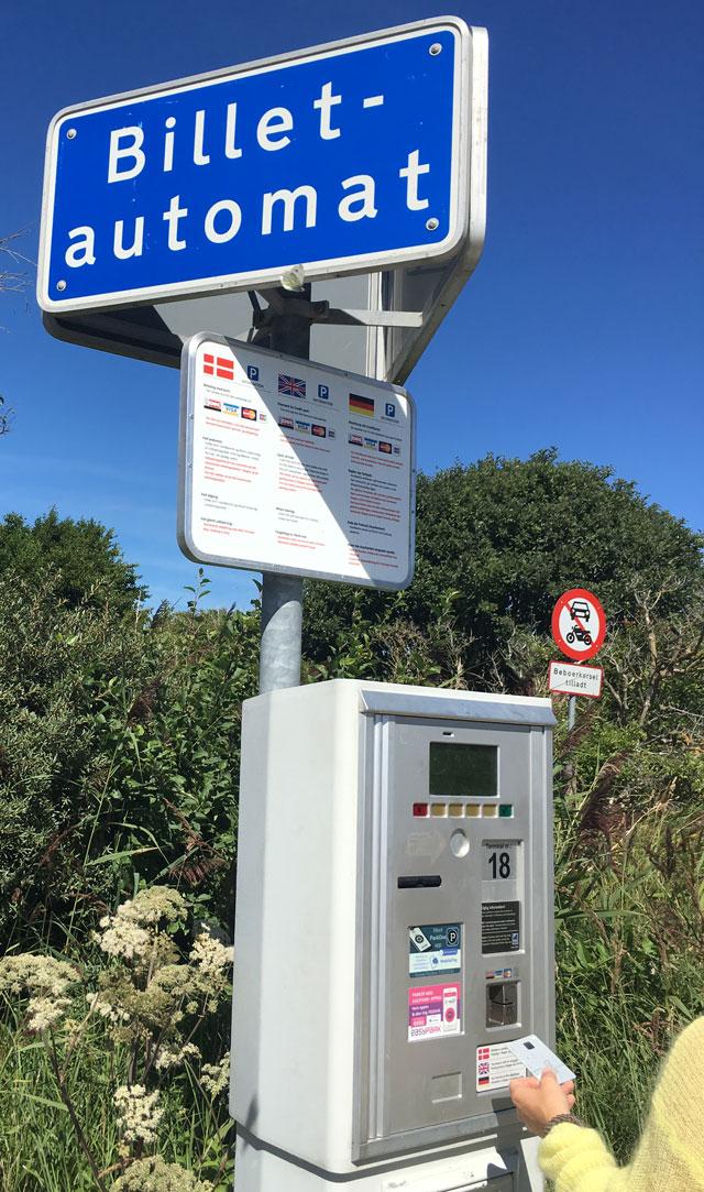 Grenen - Parkautomat