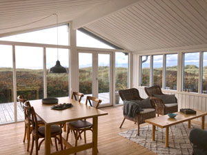 Blick aus dem Ferienhaus