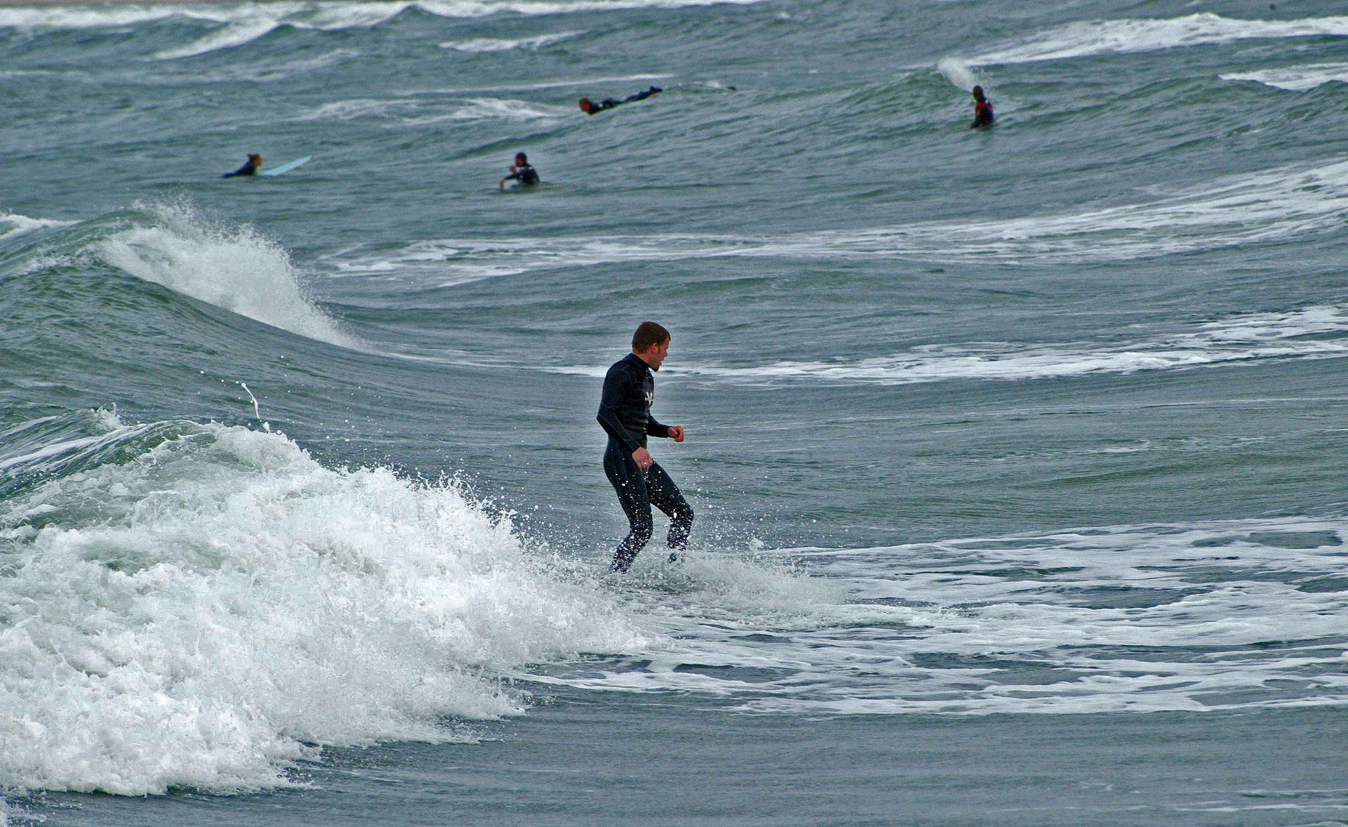 Surfer in der Nordsee